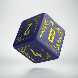 D6 Galactic Die Navy & Yellow