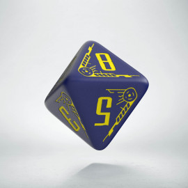 D8 Galactic Die Navy & Yellow