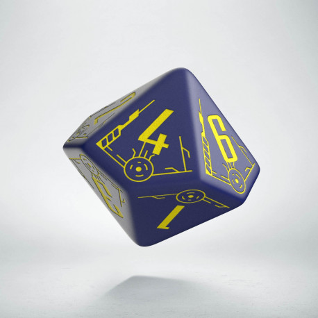 D10 Galactic Die Navy & Yellow