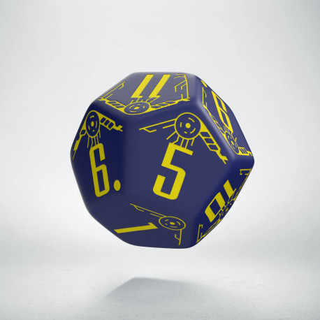 D12 Galactic Die Navy & Yellow