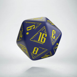 D20 Galactic Die Navy & Yellow