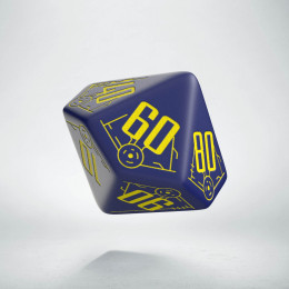 D100 Galactic Navy & Yellow Die (1)