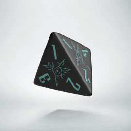 D4 Galactic Black & blue Die (1)