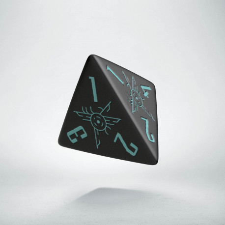 D4 Galactic Die Black & blue