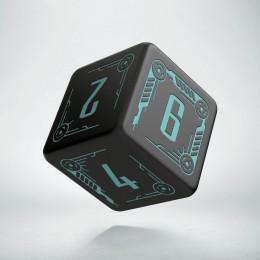 D6 Galactic Black & blue Die (1)