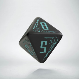 D8 Galactic Die Black & blue