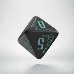 D8 Galactic Black & blue Die (1)