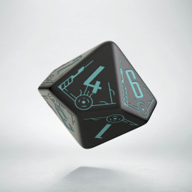 D10 Galactic Die Black & blue
