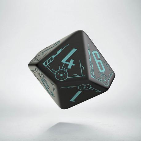 D10 Galactic Die Black & blue