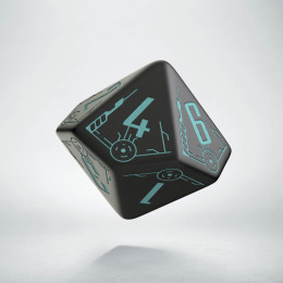 D10 Galactic Black & blue Die (1)