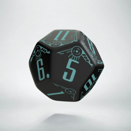 D12 Galactic Black & blue Die (1)