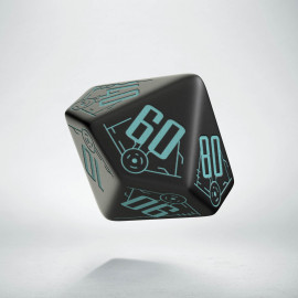 D100 Galactic Black & blue Die (1)