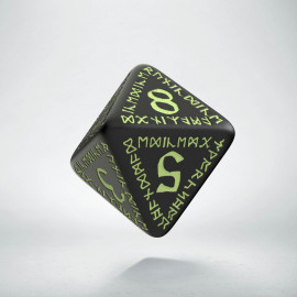 D8 Runic Black - glow in the dark die