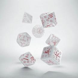 Kości RPG Kanji Biało-czerwone (7)
