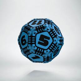 D12 Tech Dice Blue - black die