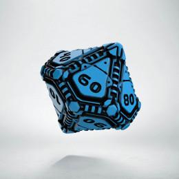 D100 Tech Dice Blue - black die