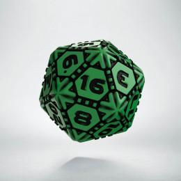 D20 Tech Green & black Die (1)