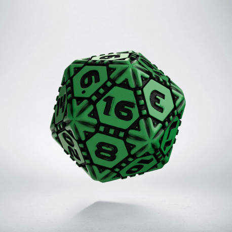 D20 Tech Die Green & black