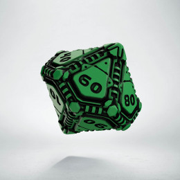 D100 Tech Green & black Die (1)