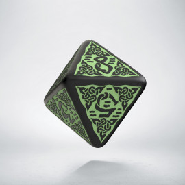 D8 Celtic 3D Revised Black & Green Die