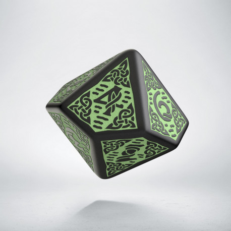 D10 Celtic 3D Revised Black & Green Die