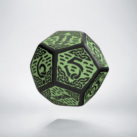 D12 Celtic 3D Revised Black & Green Die