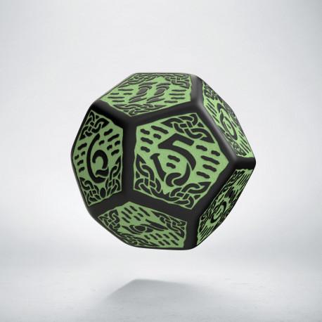 D12 Celtic 3D Revised Black & Green Die