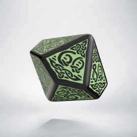 D100 Celtic 3D Revised Black & Green Die