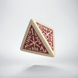 D4 Dwarven Beige & burgundy Die (1)