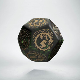 D12 Dragons Bottle green & gold Die (1)
