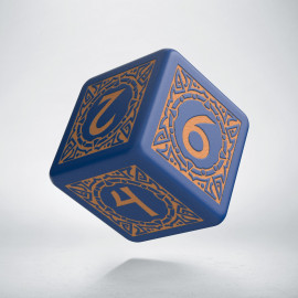 D6 Viking Navy Blue & peach Die [unusual] (1)