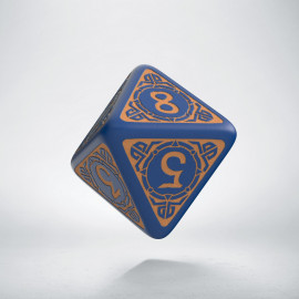 D8 Viking Navy Blue & peach Die [unusual] (1)