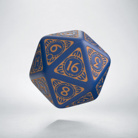 D20 Viking Navy Blue & peach Die [unusual] (1)