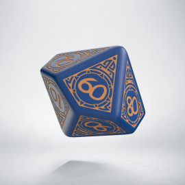 D100 Viking Navy Blue & peach Die [unusual] (1)