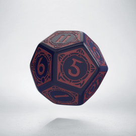 D12 Viking Ghost-blue & burgundy Die [unusual] (1)