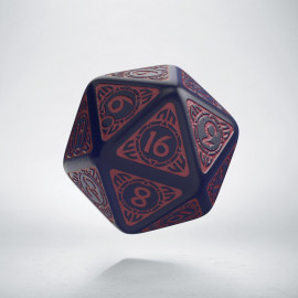 D20 Viking Ghost-blue & burgundy Die [unusual] (1)
