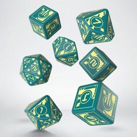 Kości RPG Polaris Turkusowo-jasnożółte 3D6 +3D10 + 1D20 (7)