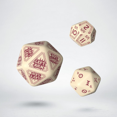 RuneQuest Beige & burgundy Expansion Dice (3)