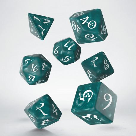 Kości RPG Klasyczne Burzowo-białe (7)
