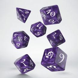 Classic RPG Lavender & white Dice Set (7)