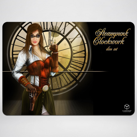 Steampunk Clockwork Gaming Mat 35x50cm