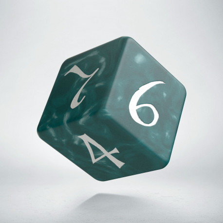D6 Classic Stormy & white Die (1)