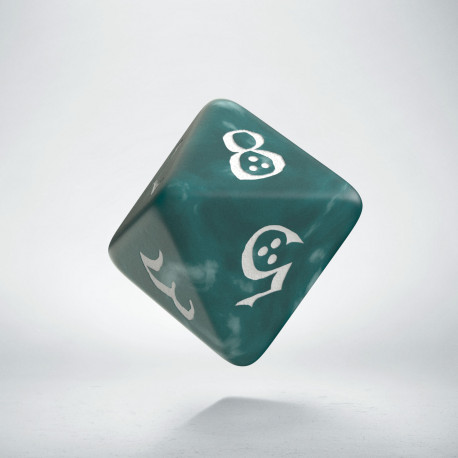 D8 Classic Stormy & white Die (1)