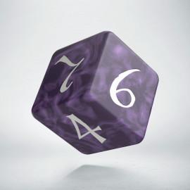 D6 Classic Lavender & white Die (1)