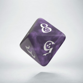 D8 Classic Lavender & white Die (1)