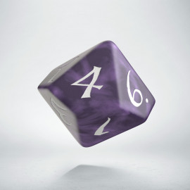 D10 Classic Lavender & white Die (1)