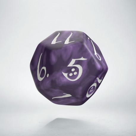 D12 Classic Lavender & white Die (1)