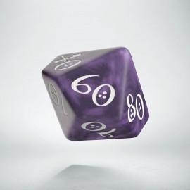 D100 Classic Lavender & white Die (1)