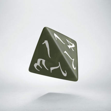 D4 Classic Olive & white Die (1)