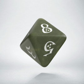 D8 Classic Olive & white Die (1)